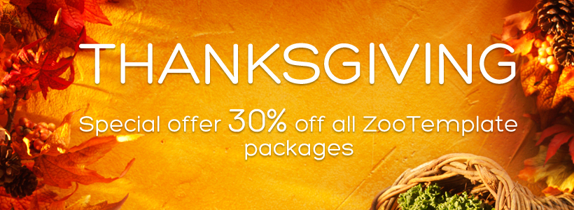 Thanksgiving special offer 30% off