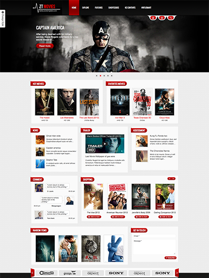 Amazing Responsive Joomla Template ZT Movie