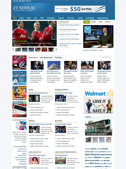 News joomla templates archives zootemplate for News site template free download