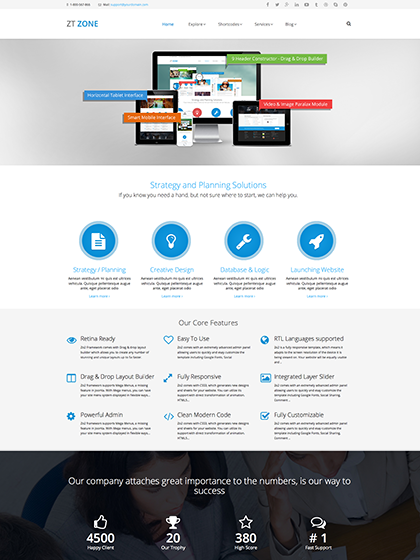 قالب جوملا ZT Zone - ZooTemplate - Responsive business template