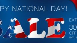 National Day Sale Extra 30% OFF with code NATIONALDAY