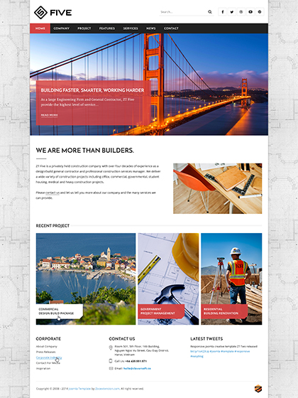 joomla construction template ZT Five