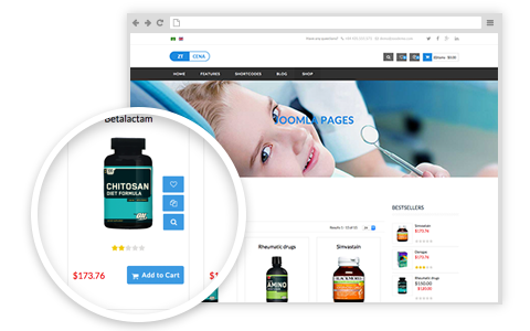 Cena Medical & Health Joomla Virtuemart Template