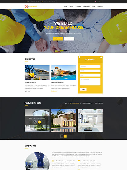 ZT Construction Joomla Building Template