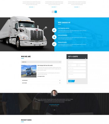 Joomla Logistic Warehouse & Transport