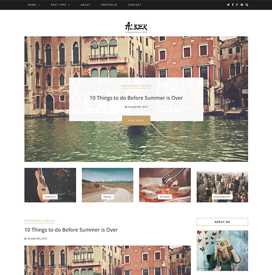 wordpress blog theme Alber