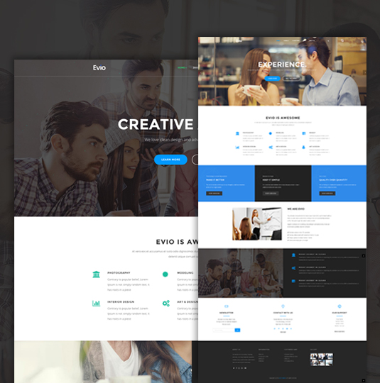 evio business joomla template