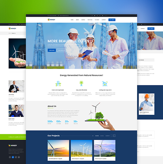 Renewable Environmental Energy Joomla Template