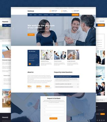 responsive finance joomla template