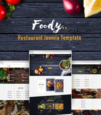 restaurant joomla template foody
