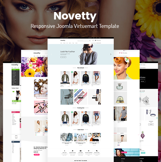 Novetty Responsive Virtuemart Joomla Template