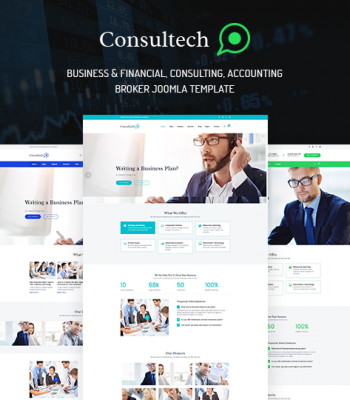 Responsive Finance & Consulting Business Joomla! Template