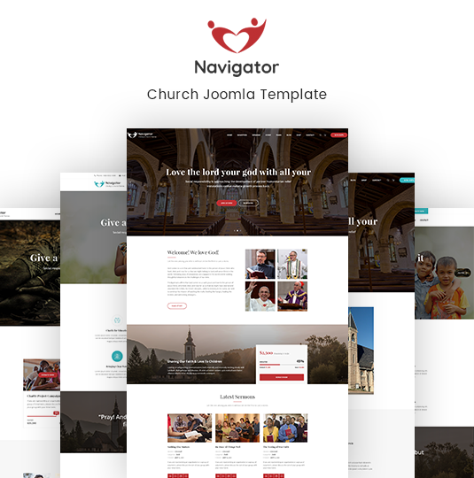 Nonprofit Church Joomla Template