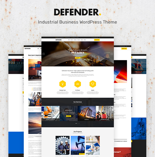 Defender Industrial Business WordPress Theme