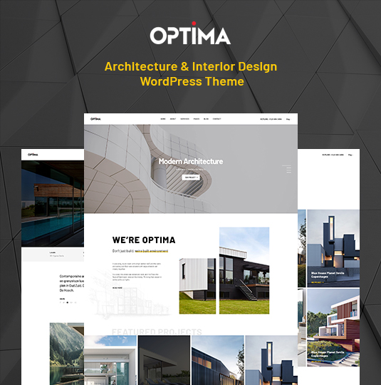 responsive Interior Design & Architecture WordPress Theme